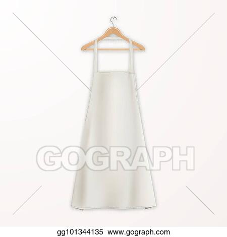 Vector Clipart - Vector realistic white blank cotton kitchen ...