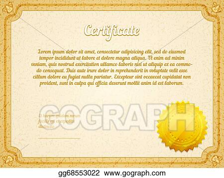 corporate stock certificate seal template word certificate template