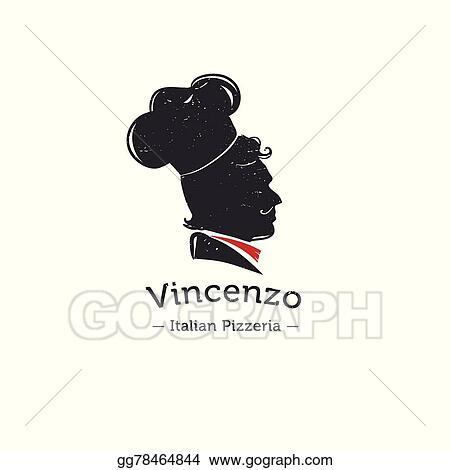 Vector Stock - Vector retro logo for italian restaurant  cook head
