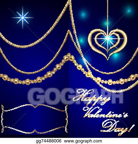 Vector Stock Vector Saint Valentine Blue Invitation Card