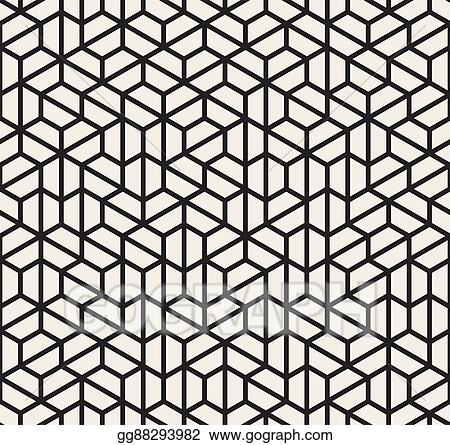 Vector Art - Vector seamless black and white irregular