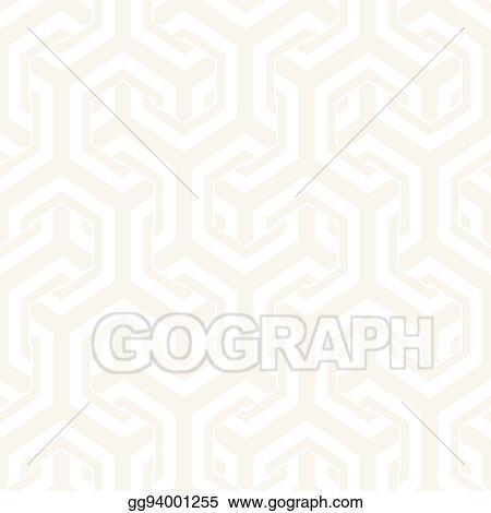 Vector Art - Vector seamless interlacing lines pattern