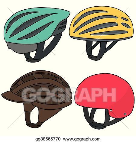 Vector Art Vector Set Of Bicycle Helmet Clipart Drawing