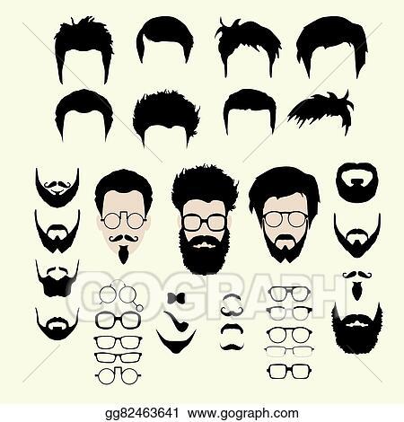 8a1cd5a9970 Vector Art - Vector set of hipster style haircut