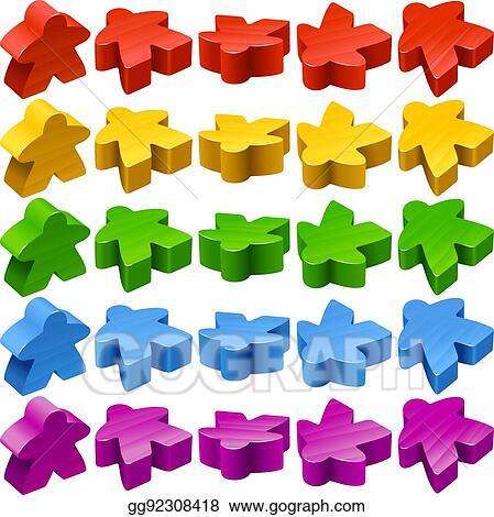 Eps Illustration Vector Set Of Meeples For Board Games Vector