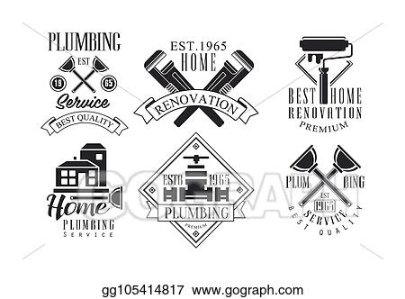 Vector Art Vector Set Of Original Monochrome Emblems For
