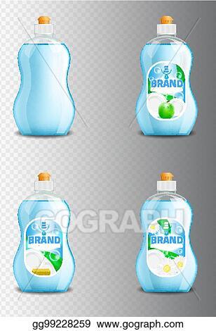 Plastic Bottle Label Design Washing Up Liquid Or Dishwashing Soap Brand Advertising Templates