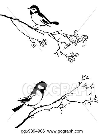 Vector Illustration Vector Silhouette Of The Bird On