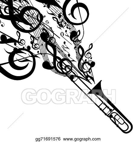 trombone clip art royalty free gograph rh gograph com trombone player clipart trombone clip art free
