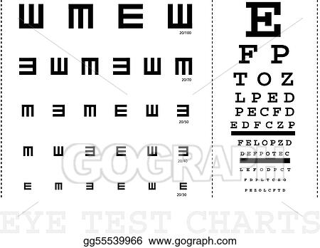 Eps Vector Vector Snellen Eye Test Charts For Children And Adults