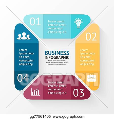 Vector Art Vector Square Infographic Template For Cycle Diagram Graph Presentation And Round Chart Business Concept With 4 Options Parts Steps Or Processes Abstract Background Eps Clipart Gg77561405 Gograph