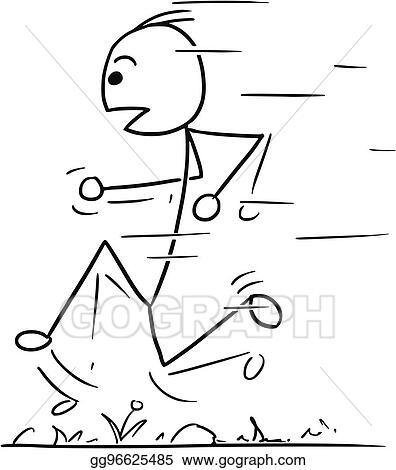 Stick Man Running SVG Vector, Stick Man Running Clip art - SVG Clipart