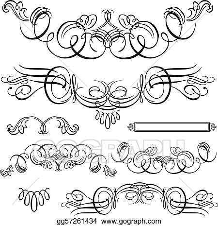 Vector stock vector swirl ornament set stock clip art gg57261434 vector swirl ornament set stopboris Image collections