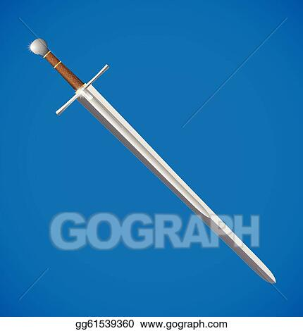 Sword realistic. Eps vector illustration stock