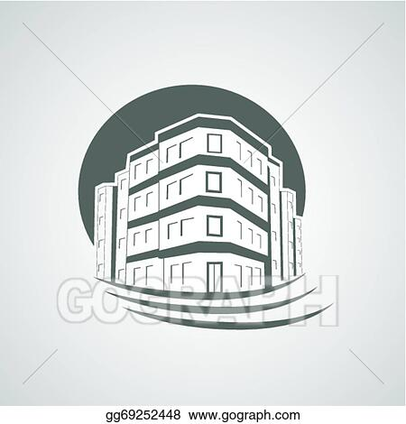 Vector Stock Vector Symbol Of Home House Icon Realty Silhouette