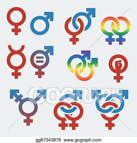 Eps Vector Vector Symbols Of Sexual Orientation And Gender Stock
