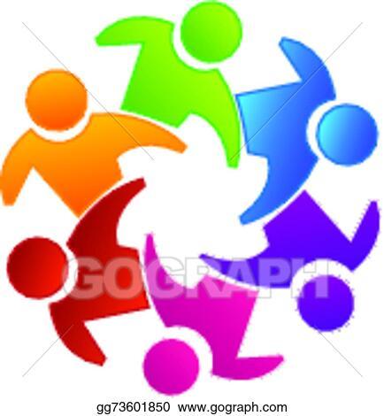 Clip Art Vector Vector Teamwork Unity Logo Stock Eps Gg73601850