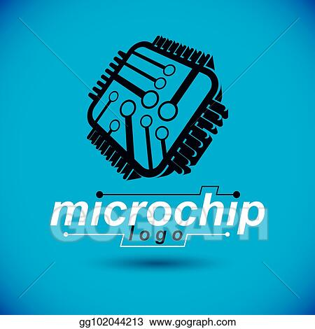 Vector Art - Vector technology cpu design with square microprocessor ...