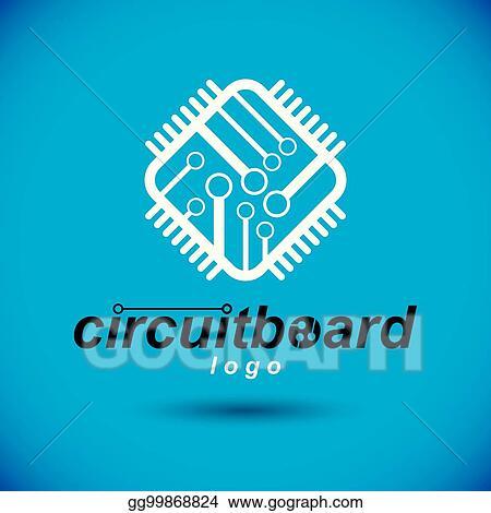 vector art vector technology cpu design with square microprocessor scheme computer circuit board digital element technology microchip logo eps clipart gg99868824 gograph https www gograph com clipart license summary gg99868824