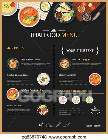 Restaurant Brochure Template from comps.gograph.com