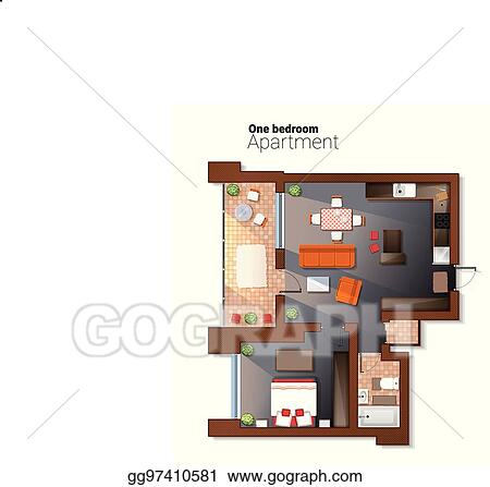 Eps Illustration Vector Top View Illustration Of Modern One