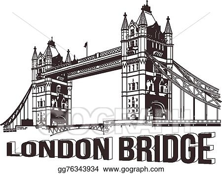 Vector Art Vector Tower Bridge Eps Clipart Gg76343934 Gograph