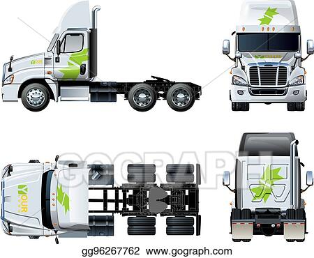 eps vector vector tractor template isolated on white stock