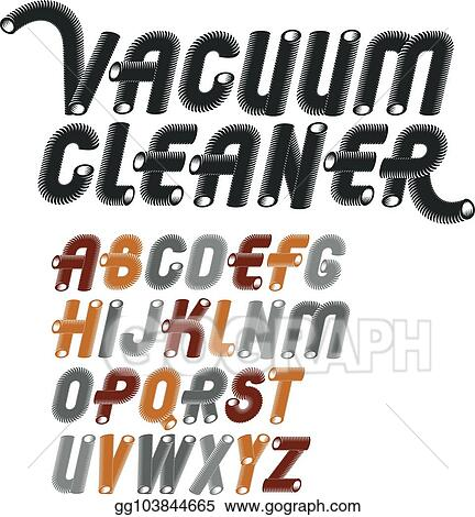 Vector Illustration - Vector trendy capital english alphabet