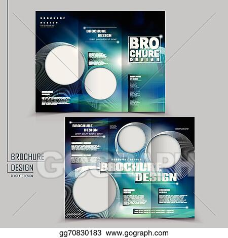 EPS Illustration   Modern Tri Fold Template Of Brochure Design With  Technology Style. Vector Clipart Gg70830183