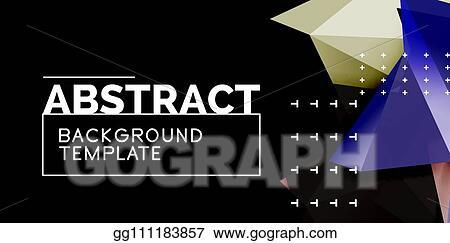 Clip Art Vector - Vector triangular 3d geometric shapes