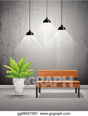 Superb Vector Stock Vector Tropical Tree In Cement Pots With Inzonedesignstudio Interior Chair Design Inzonedesignstudiocom