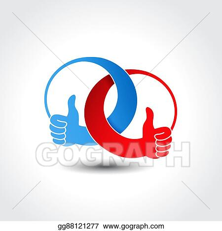 Vector Clipart Vector Unity Icon Rounded Best Choice Symbol Gesture Hand Vector Illustration Gg88121277 Gograph