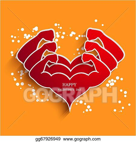 Clip Art Vector Vector Valentines Day Background Eps10 Stock Eps