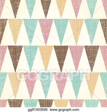 Vector Vintage Bunting Flags Triangles