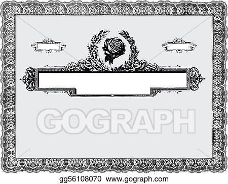 EPS Illustration - Vector vintage certificate border. Vector Clipart ...
