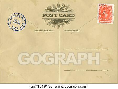 Vector Vintage Postcard Template