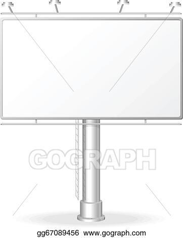 vector stock vector white billboard screen template stock clip