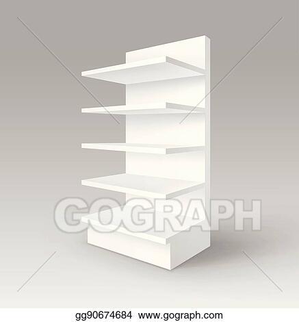 Exhibition Stand Drawing : Vector art vector white blank empty exhibition trade stand shop