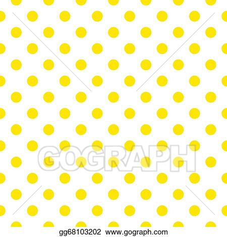 vector yellow polka dots background