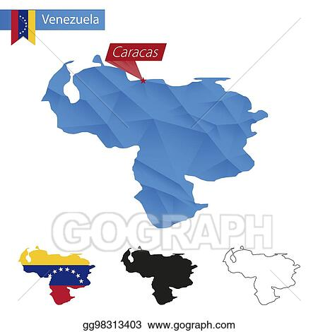 EPS Vector - Venezuela blue low poly map with capital ... on maracaibo-venezuela map, lima peru map, nairobi kenya map, havana cuba map, london united kingdom map, cordoba argentina map, dublin ireland map, llanos venezuela map, montevideo uruguay map, tegucigalpa honduras map, rio de janeiro brazil map, madrid spain map, bogota-colombia map, guadalajara mexico map, sao paulo brazil map, phuket thailand map, santiago chile map, buenos aires map, georgetown guyana map, quito ecuador map,