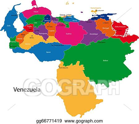 Clip Art Vector Venezuela Map Stock Eps Gg66771419 Gograph
