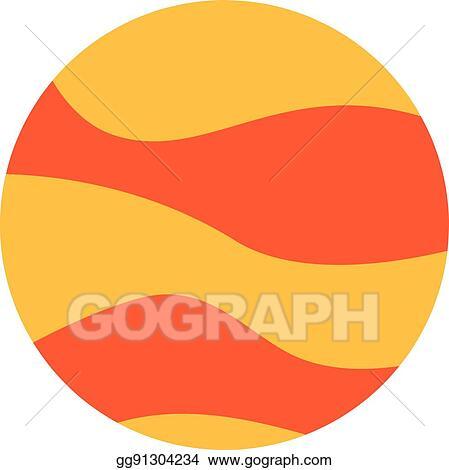 Planet venus. Vector clipart illustration gg
