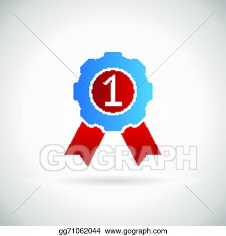Vector stock victory prize award symbol badge with ribbons victory prize award symbol badge with ribbons silhouette icon design template vector illustration maxwellsz