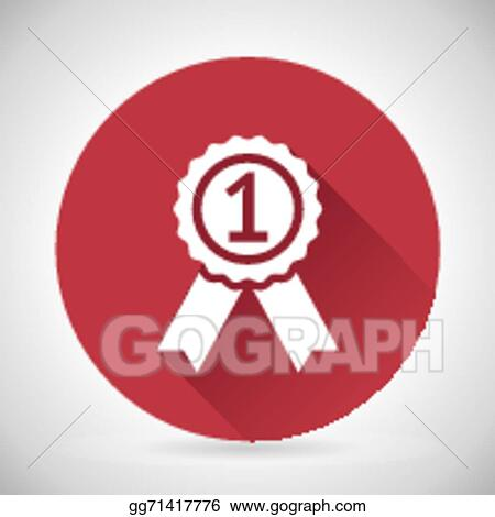 Vector Stock Victory Prize Award Symbol Badge With Ribbons