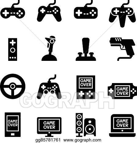 Vector Art Video Game Controller Joystick Gamepad Icon