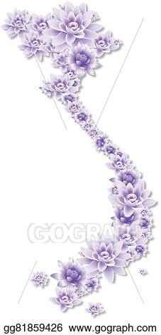 Vector illustration vietnam purple lotus map eps clipart vietnam purple lotus map mightylinksfo