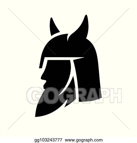 Vector Illustration Viking Abstract Sign Stock Clip Art