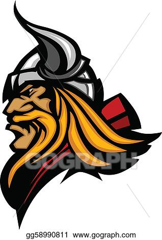 clip art vector viking mascot vector profile with h stock eps