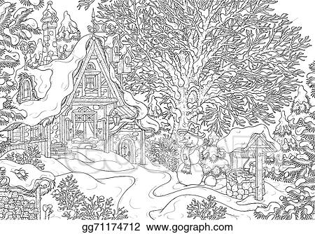 Village House In Winter