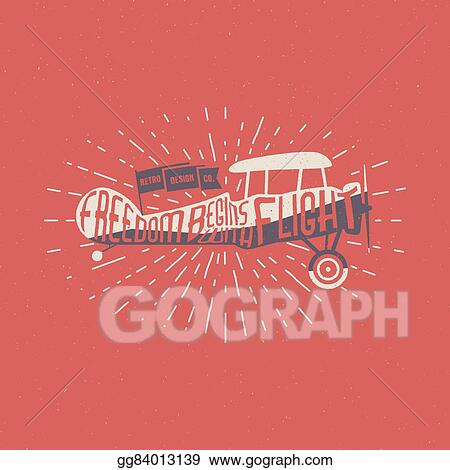Eps Vector Vintage Airplane Lettering For Printing Vector Old